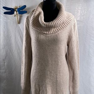 Whbm sweater cowl neck dress